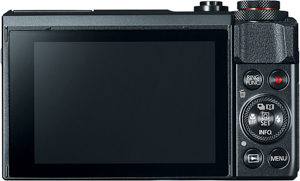 Canon G7 X MII back view and LCD