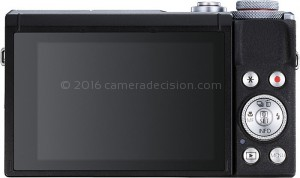 Canon G7 X MIII back view and LCD