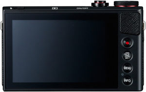 Canon G9 X back view and LCD