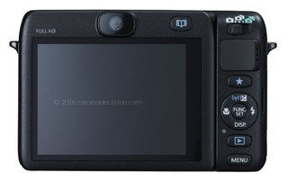 Canon N100 back view and LCD