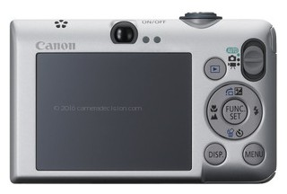 Canon SD1200 IS back view and LCD
