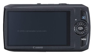 Canon SD4000 IS back view and LCD