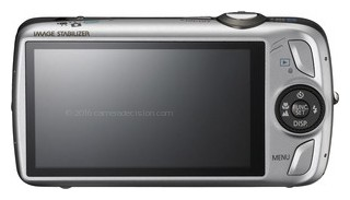 Canon SD980 IS back view and LCD