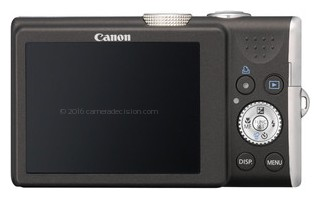 Canon SX200 IS back view and LCD