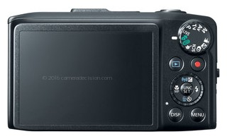 Canon SX280 HS back view and LCD