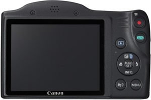 Canon SX420 IS back view and LCD