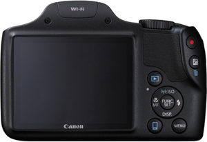 Canon SX530 HS back view and LCD