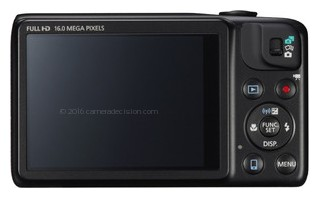 Canon SX600 HS back view and LCD