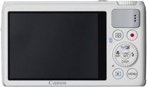 Canon S200 back view and LCD