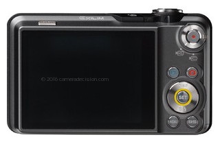 Casio EX-FC100 back view and LCD