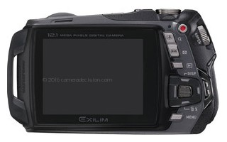 Casio EX-G1 back view and LCD