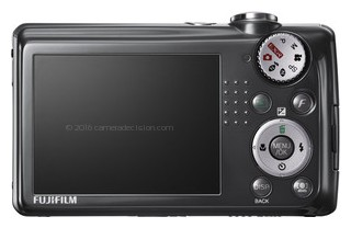 FujiFilm F70EXR back view and LCD