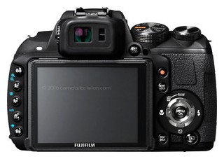 FujiFilm HS20 EXR back view and LCD