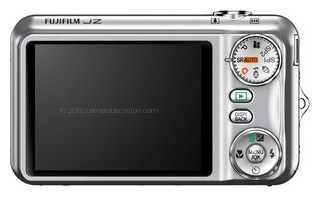 FujiFilm JZ300 back view and LCD