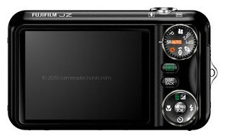 FujiFilm JZ500 back view and LCD