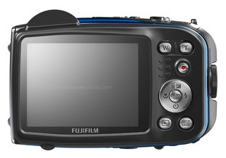 FujiFilm XP10 back view and LCD