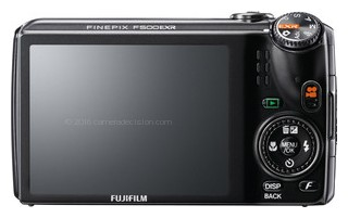 Fujifilm F500 EXR back view and LCD