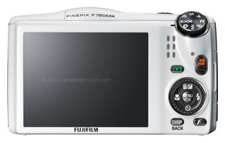 Fujifilm F750EXR back view and LCD