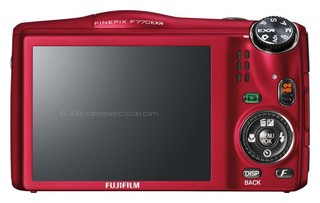 Fujifilm F770EXR back view and LCD