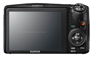 Fujifilm F900EXR back view and LCD
