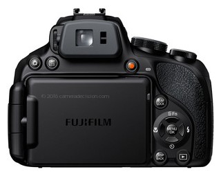 Fujifilm HS50 EXR back view and LCD