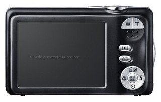 Fujifilm JX370 back view and LCD