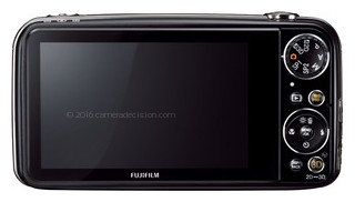 Fujifilm Real 3D W3 back view and LCD