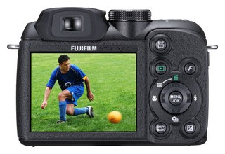 Fujifilm S1 back view and LCD