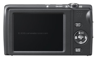Fujifilm T500 back view and LCD
