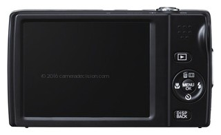 Fujifilm T550 back view and LCD
