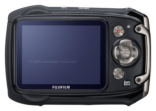 Fujifilm XP150 back view and LCD