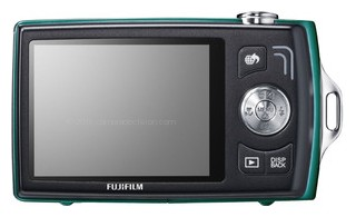 Fujifilm Z110 back view and LCD