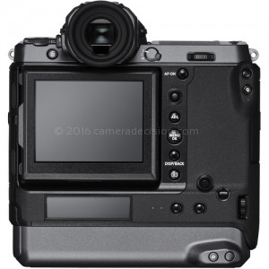 Fujifilm GFX 100 back view and LCD