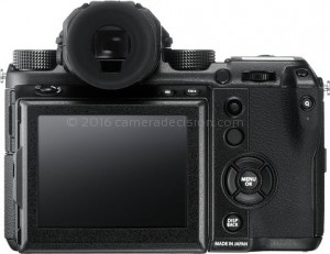 Fujifilm GFX 50S back view and LCD