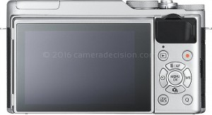 Fujifilm X-A10 back view and LCD