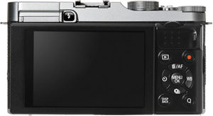 Fujifilm X-A2 back view and LCD