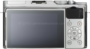 Fujifilm X-A3 back view and LCD