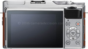 Fujifilm X-A5 back view and LCD