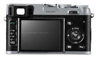 Fujifilm X-E1 back view and LCD