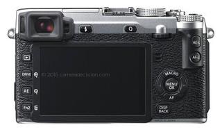 Fujifilm X-E2 back view and LCD