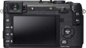 Fujifilm X-E2S back view and LCD