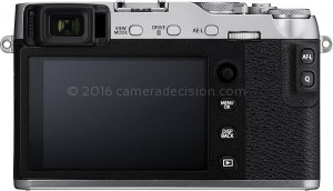 Fujifilm X-E3 back view and LCD