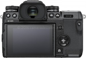 Fujifilm X-H1 back view and LCD
