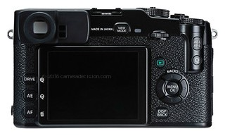 Fujifilm X-Pro1 back view and LCD
