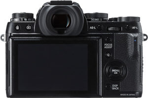 Fujifilm X-T1 IR back view and LCD
