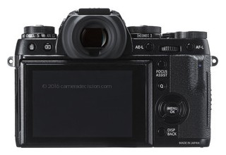 Fujifilm X-T1 back view and LCD