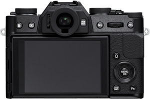 Fujifilm X-T10 back view and LCD