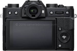 Fujifilm X-T20 back view and LCD
