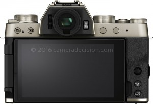 Fujifilm X-T200 back view and LCD