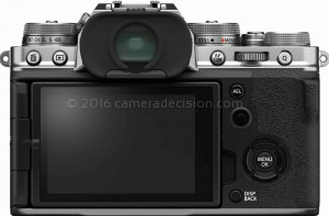 Fujifilm X-T4 back view and LCD